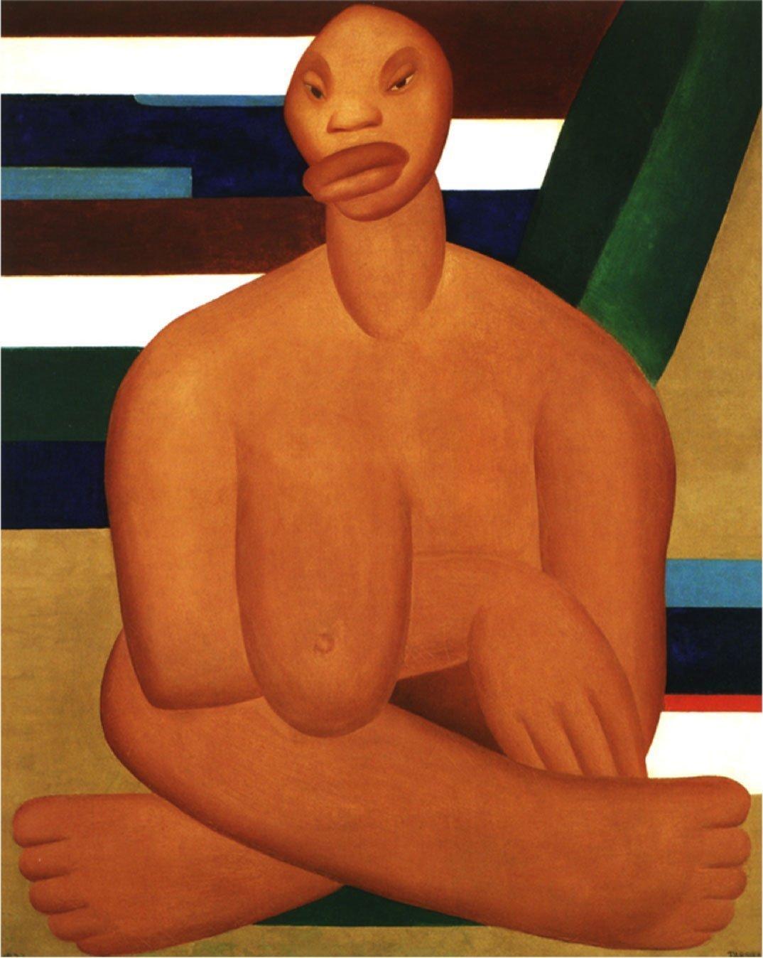 A negra (1923), Tarsila do Amaral.